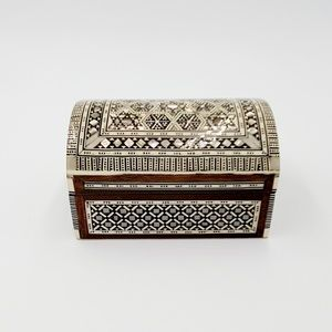 Other - Vintage Abalone Shell and Wood Box, Jewelry Box